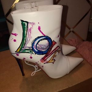 100% Authentic Christian Louboutin LOVE boots